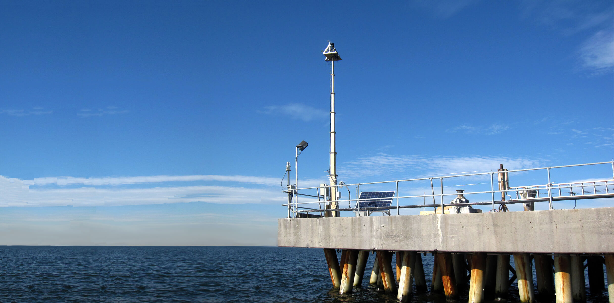 Slider FM30-350 Mast on Power Plant Pier Long Island Sound